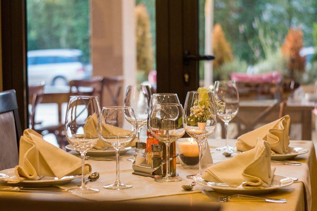 Restaurant Table at Loch Tay Restauatnt