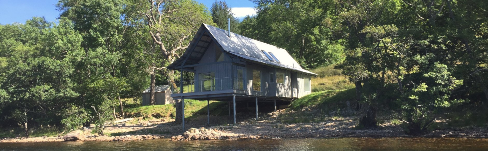 Boathouse Lodge on Shore of Loch Tay