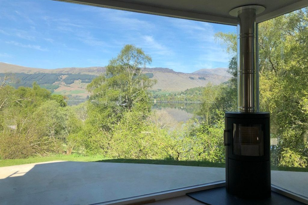 The Tractor Shed Main Window Looking Over Loch Tay
